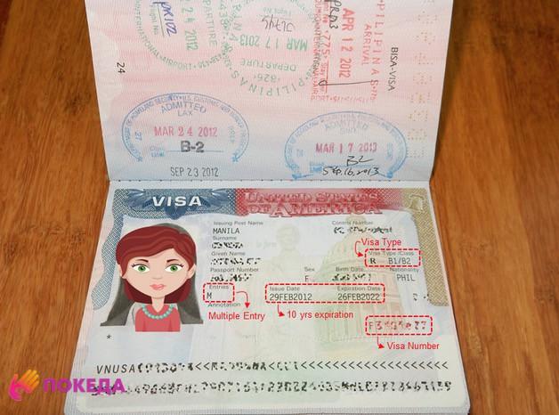 как выглядит виза в паспорте