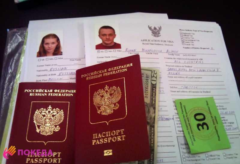 Анкеты на визу и российские паспорта