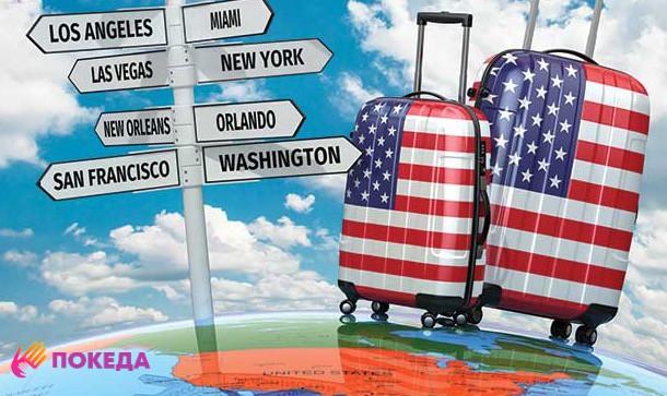 чемодан в виде американского флага