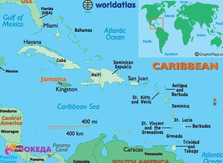 где Ямайка на карте