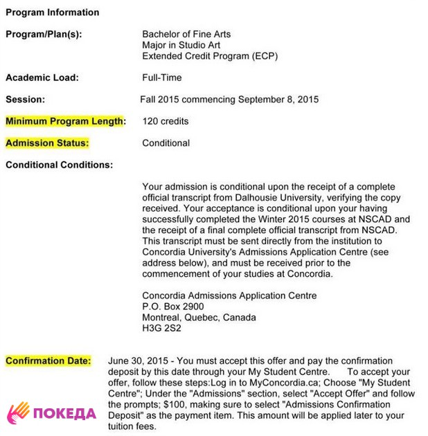 conditional offer letter