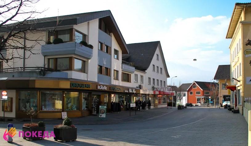 Городская улица в Лихтенштейне