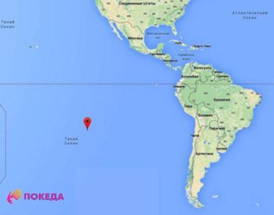 Остров Питкэрн на карте