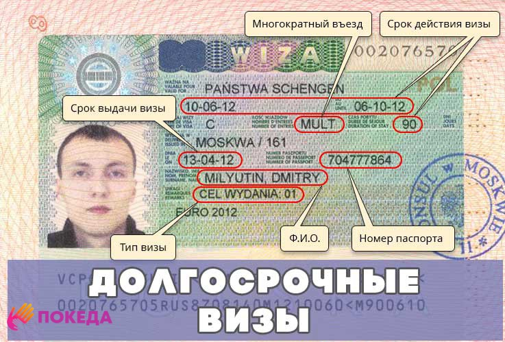 долгосрочные визы