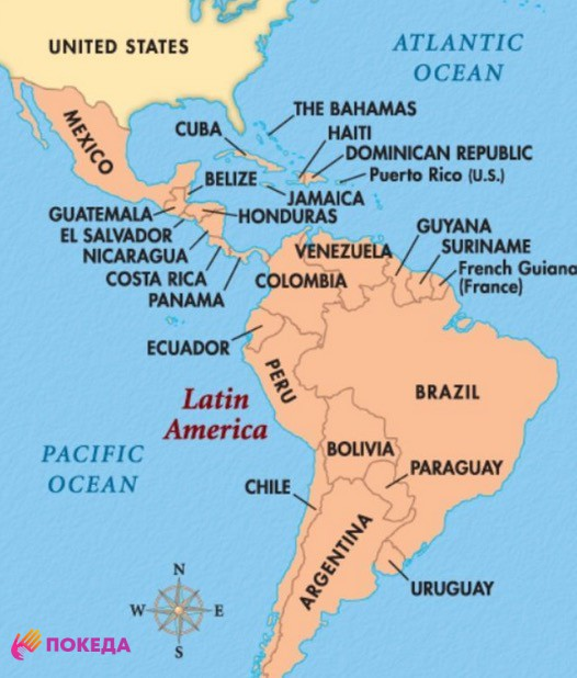 южная америка страны