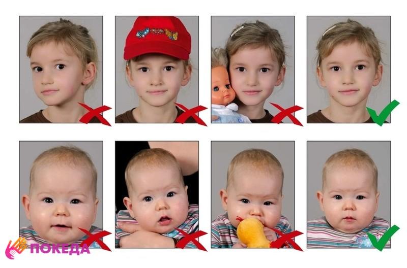 Дети на визу