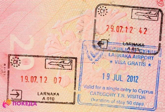 провиза в паспорте на Кипр