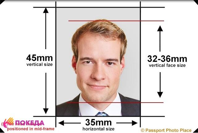 размеры фото на визу во францию