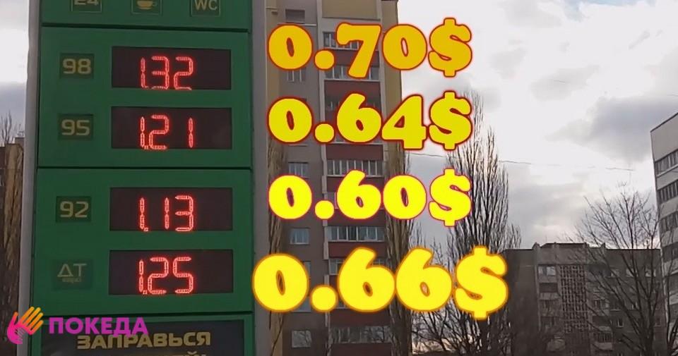 Цена на бензин в Беларуси в долларах