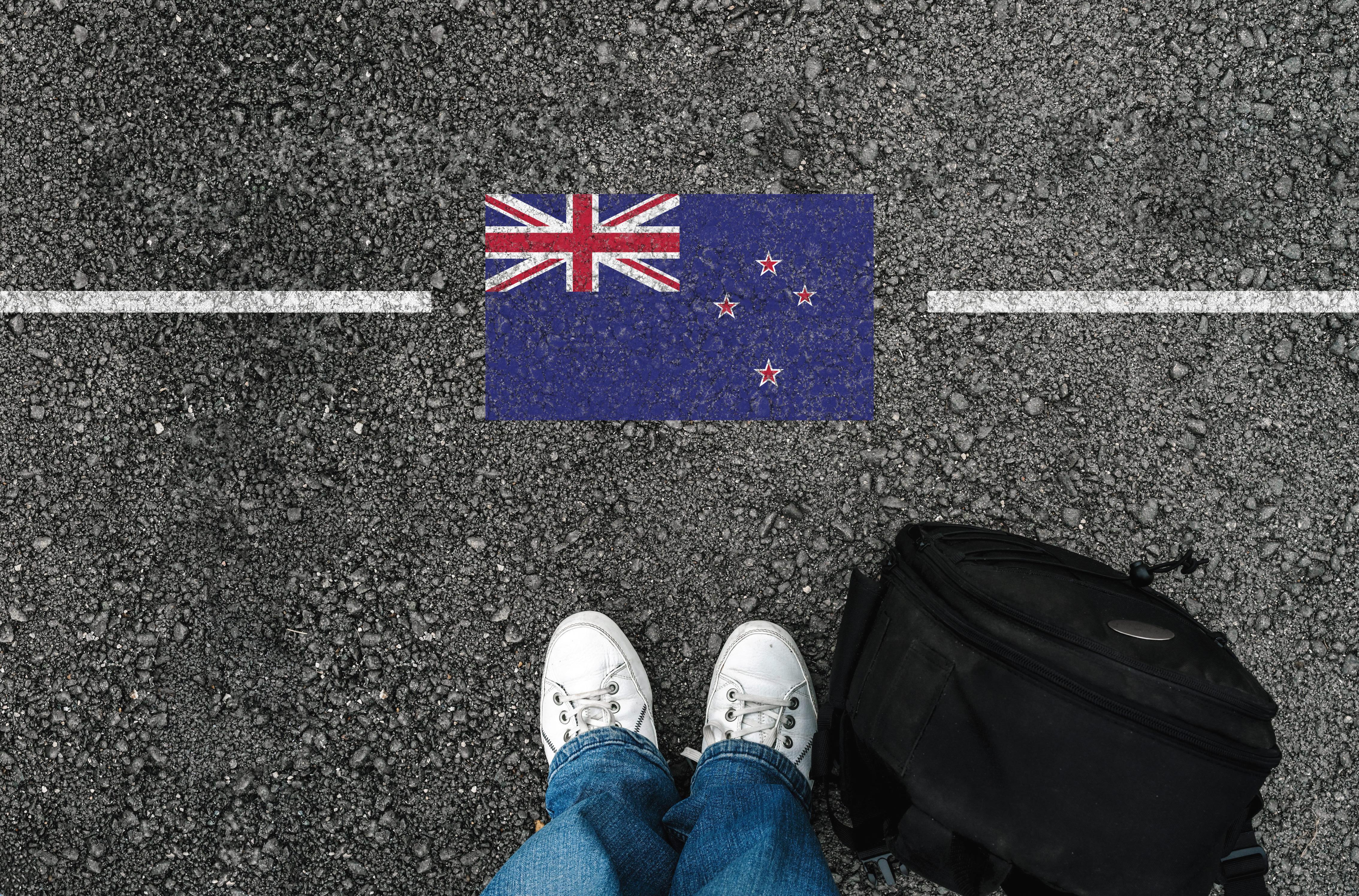 Флаг Новой Зеландии, куда есть возможность переехать для беженцев