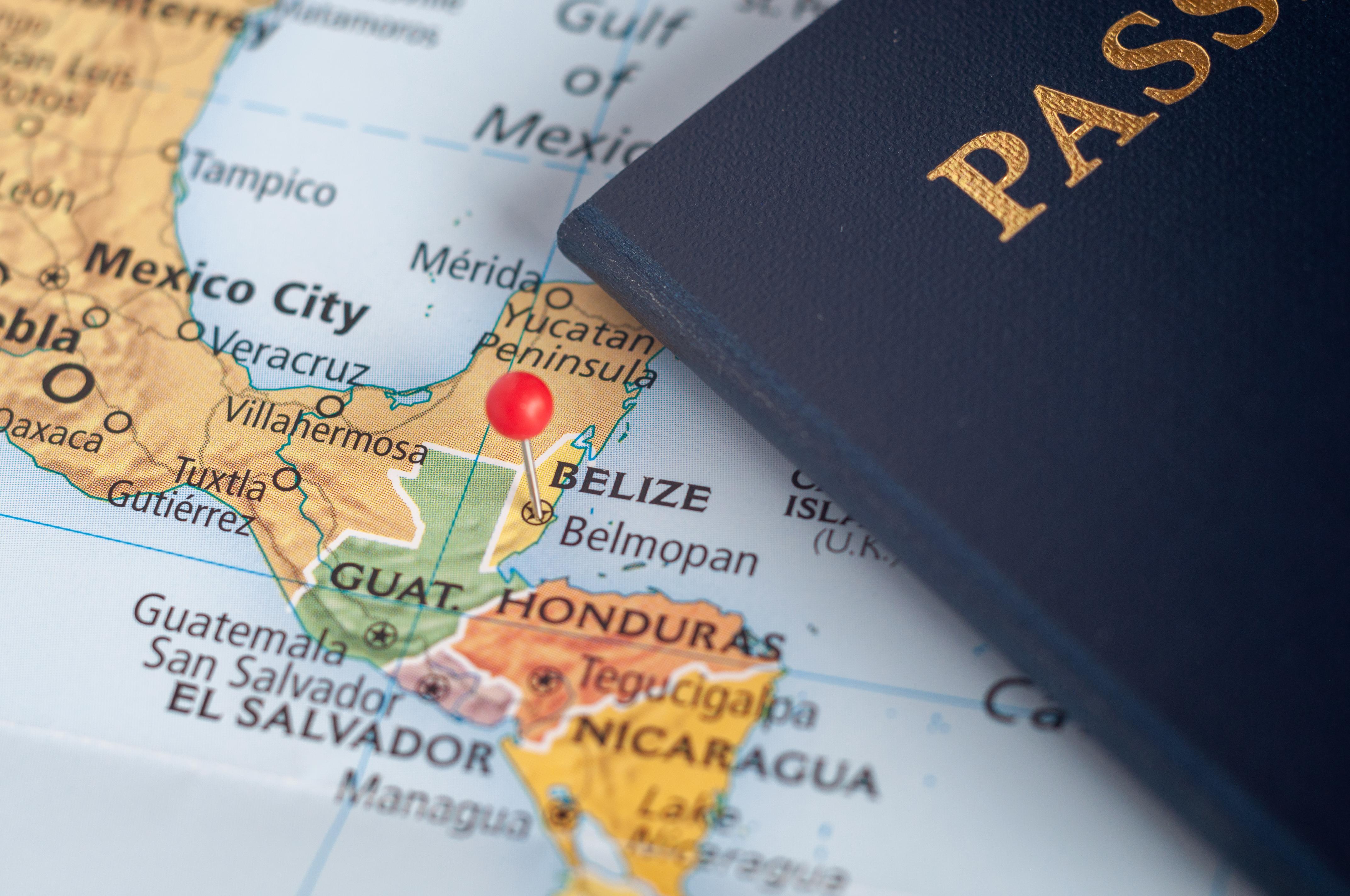 Карта Белиза и паспорт, который могут оформить иностранцы