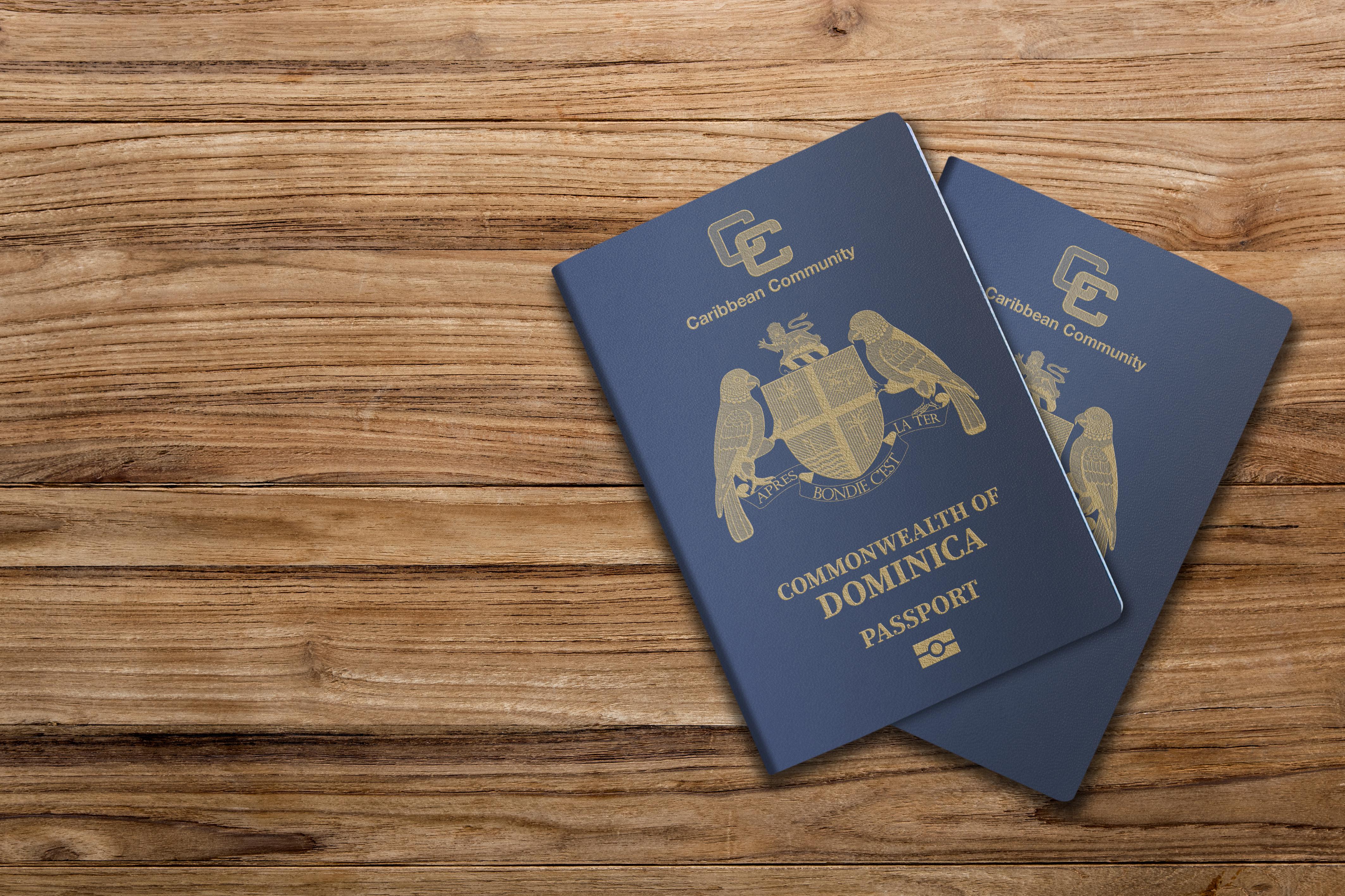 Паспорта Доминики, гражданство которой могут получить россияне, украинцы и белорусы