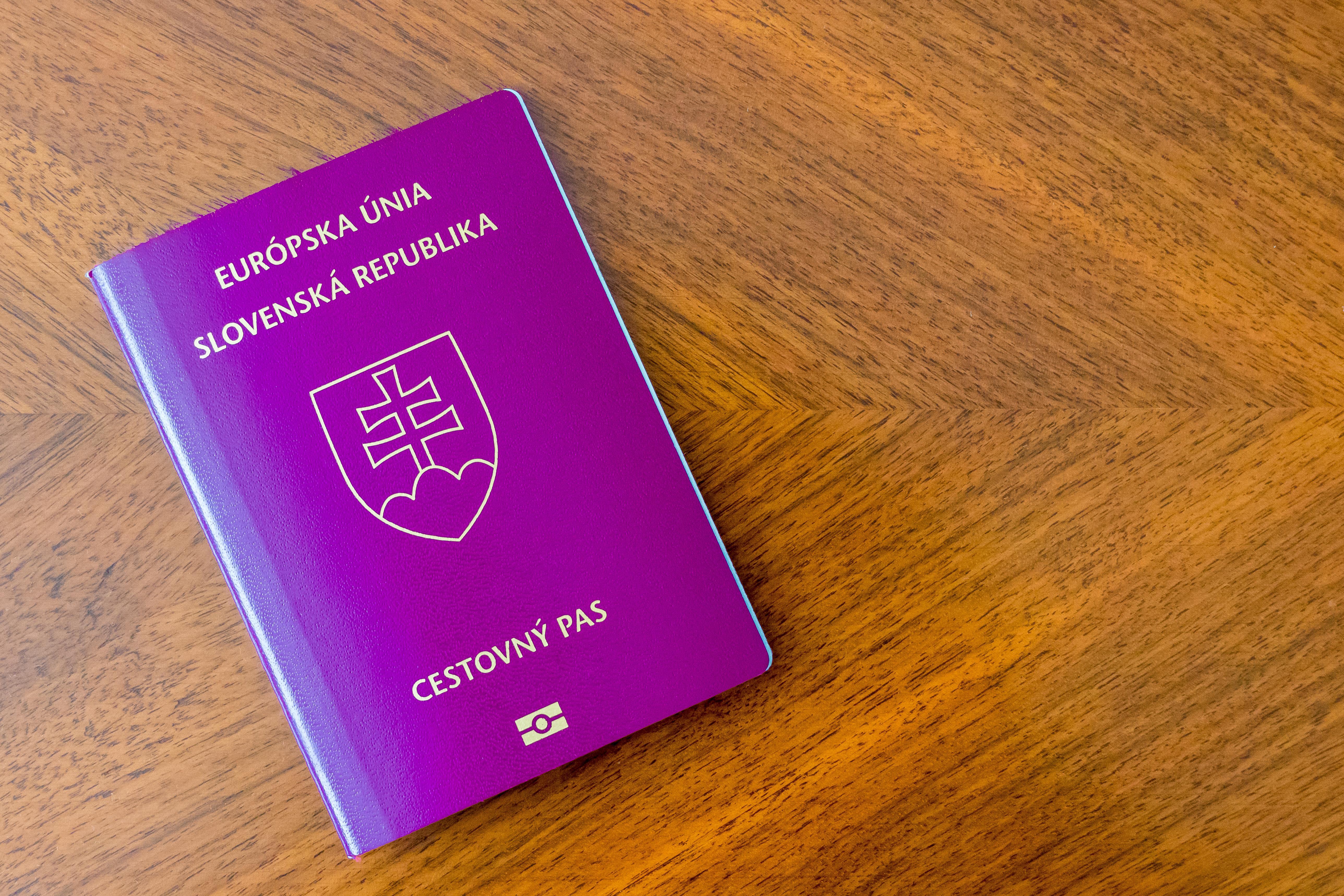 Паспорт Словакии, который могут получить россияне, украинцы и белорусы