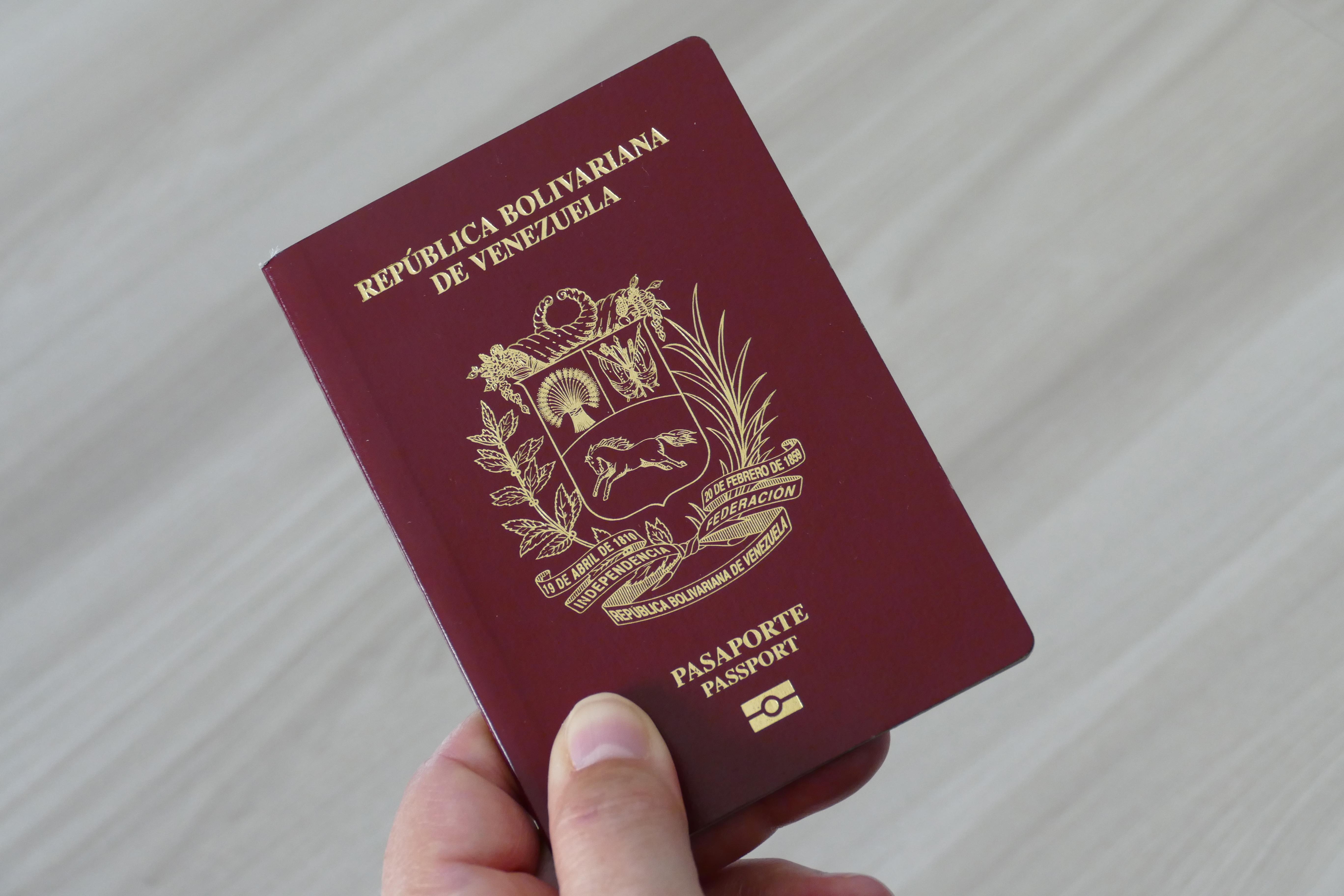 Венесуэльский паспорт, который могут оформить иностранцы