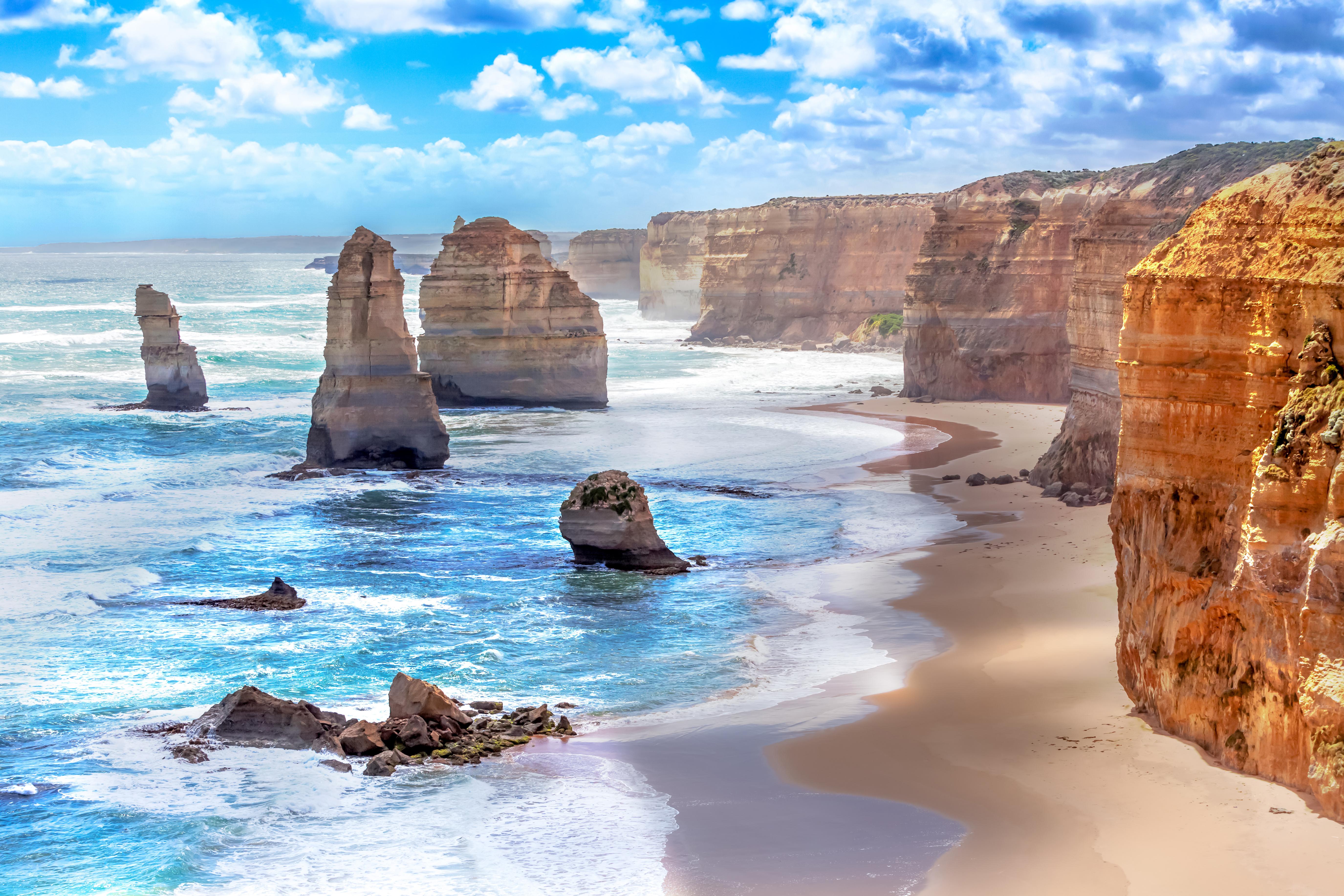 Вид на побережье Австралии, куда можно переехать из стран СНГ