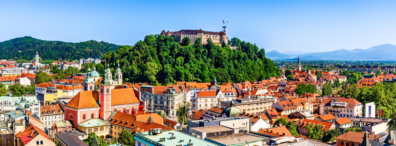 Любляна, столица Словении, куда можно переехать из стран СНГ