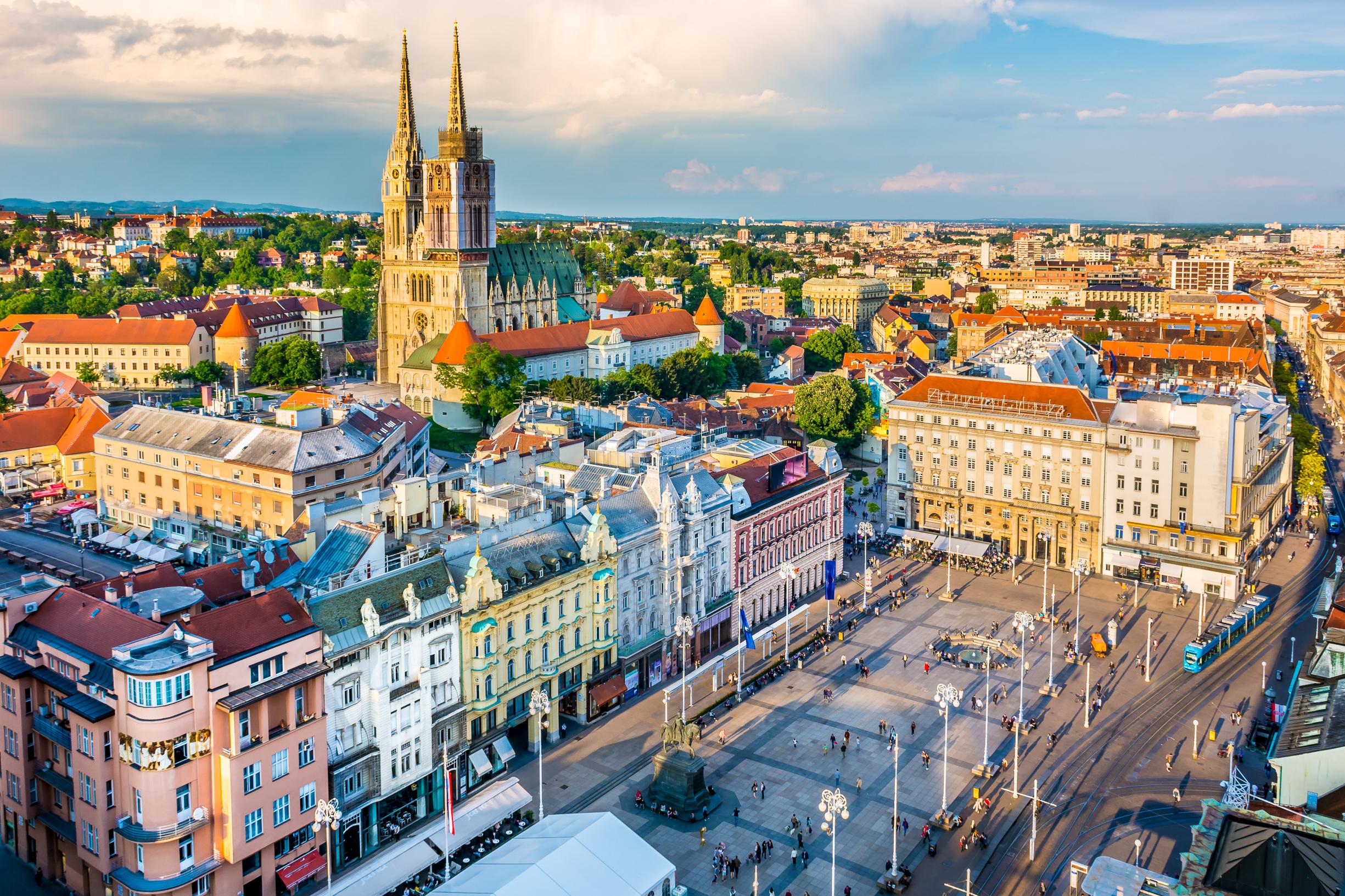Загреб, столица Хорватии, ПМЖ которой могут получить иностранцы