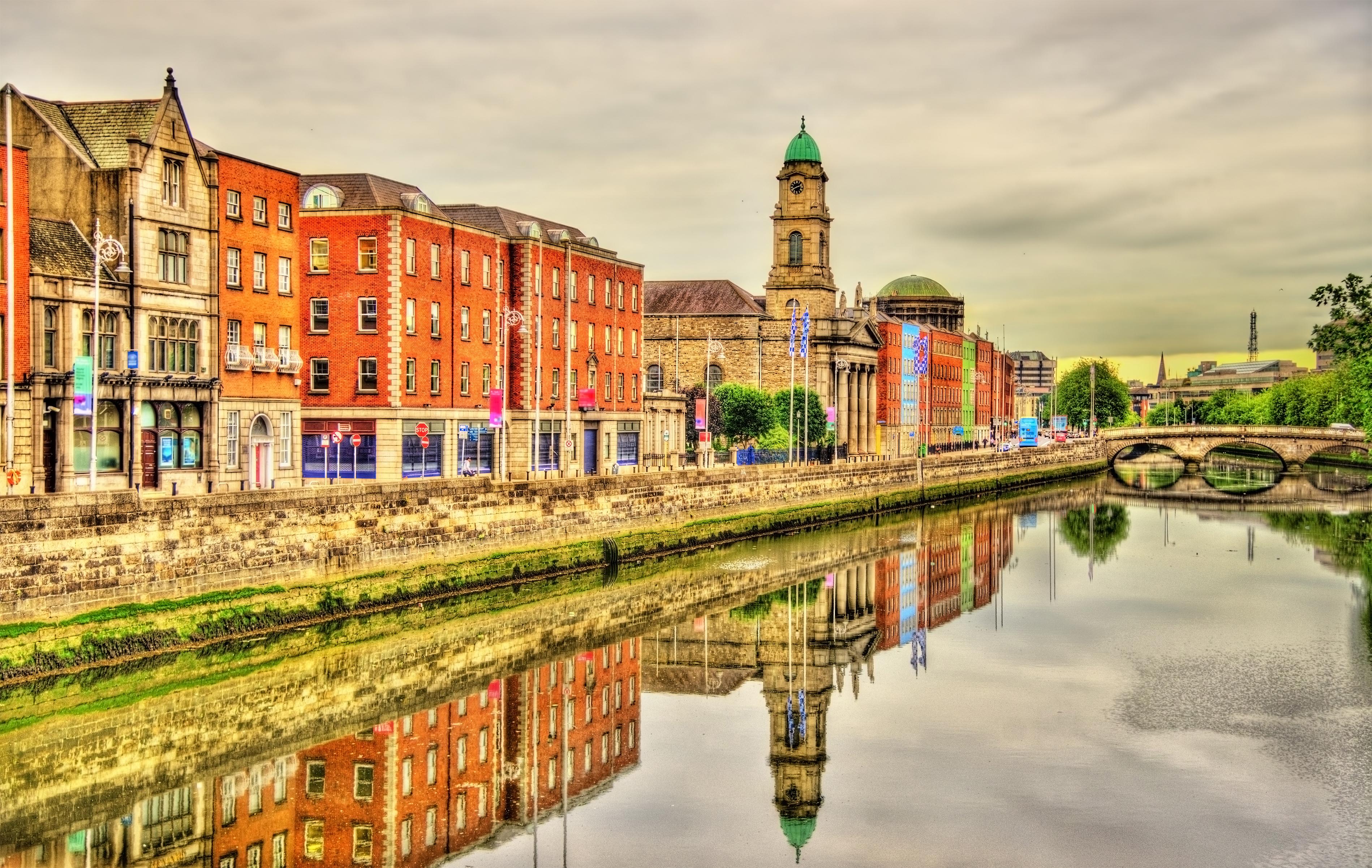 Дублин, столица Ирландии, ПМЖ которой могут получить иностранцы