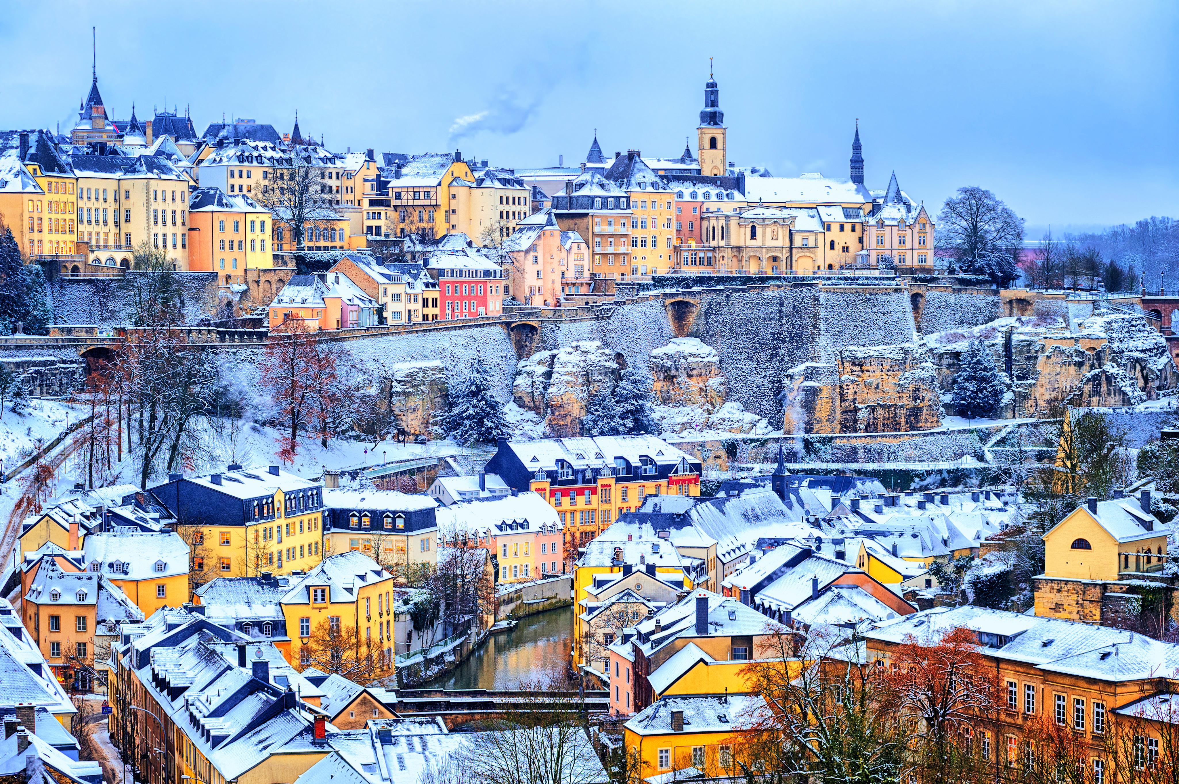 Вид на Люксембург, ПМЖ которого могут получить россияне, украинцы и белорусы
