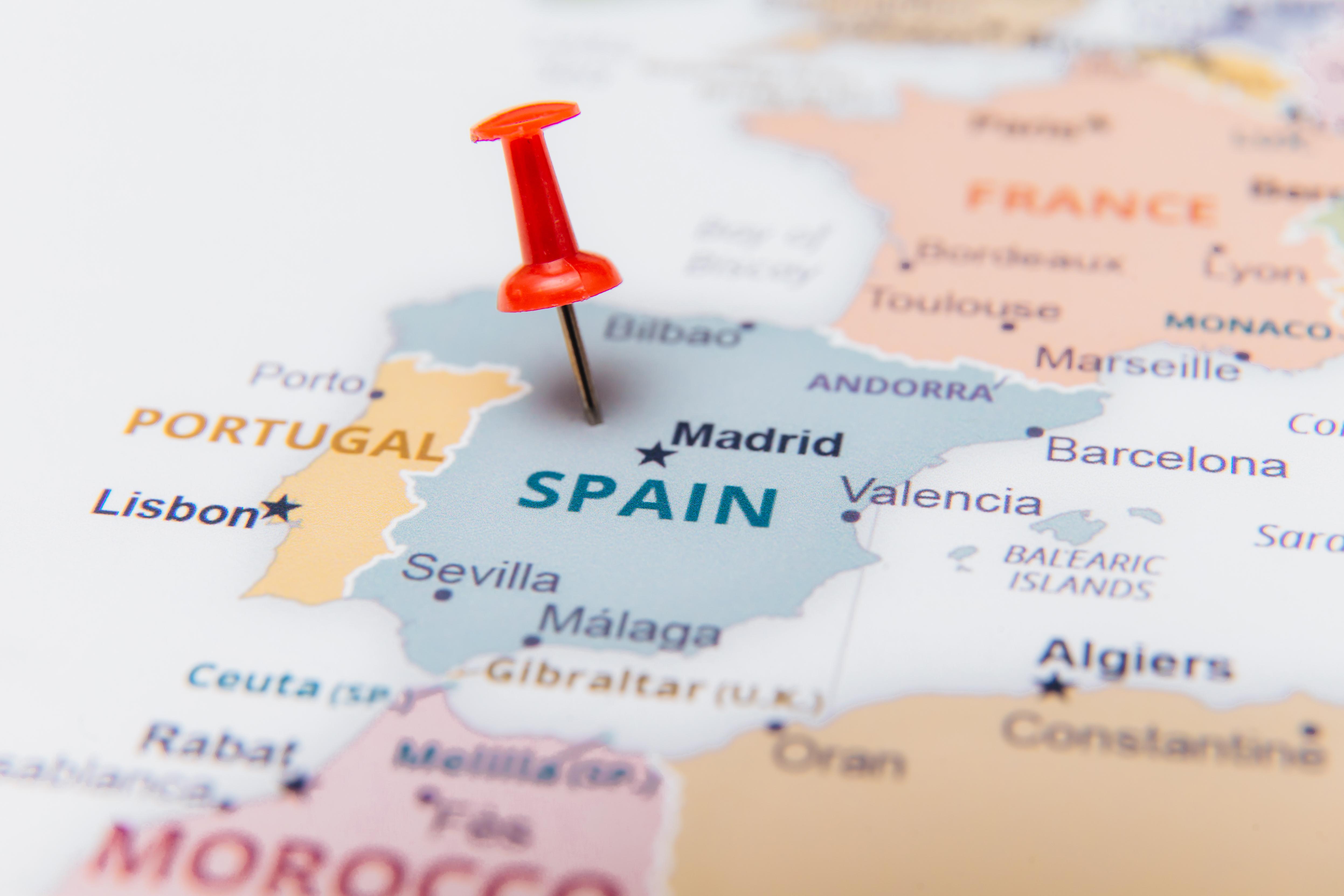 Карта Испании, легализация в которой доступна для иностранцев