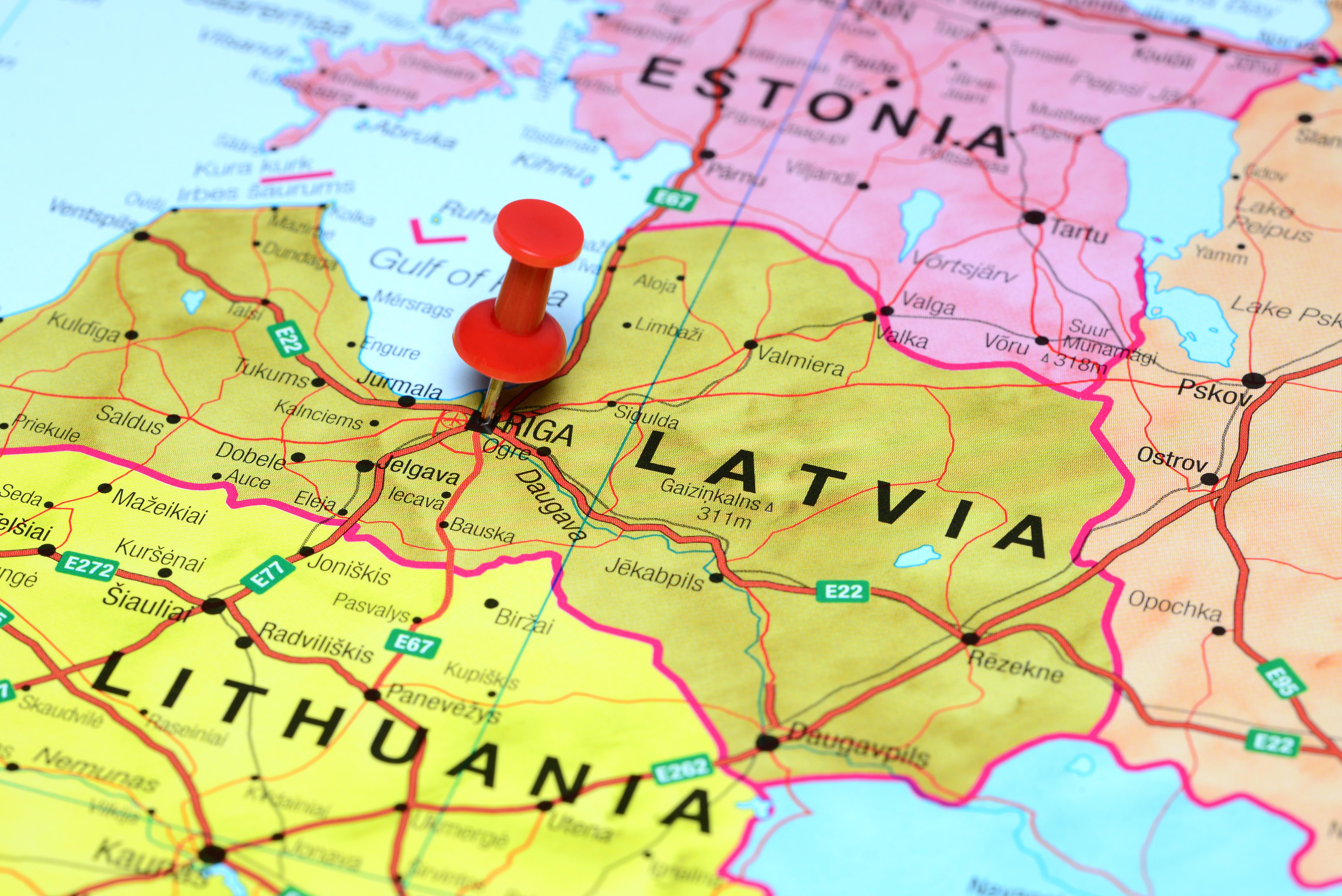 Карта Латвии, страны, где действует репатриационная программа