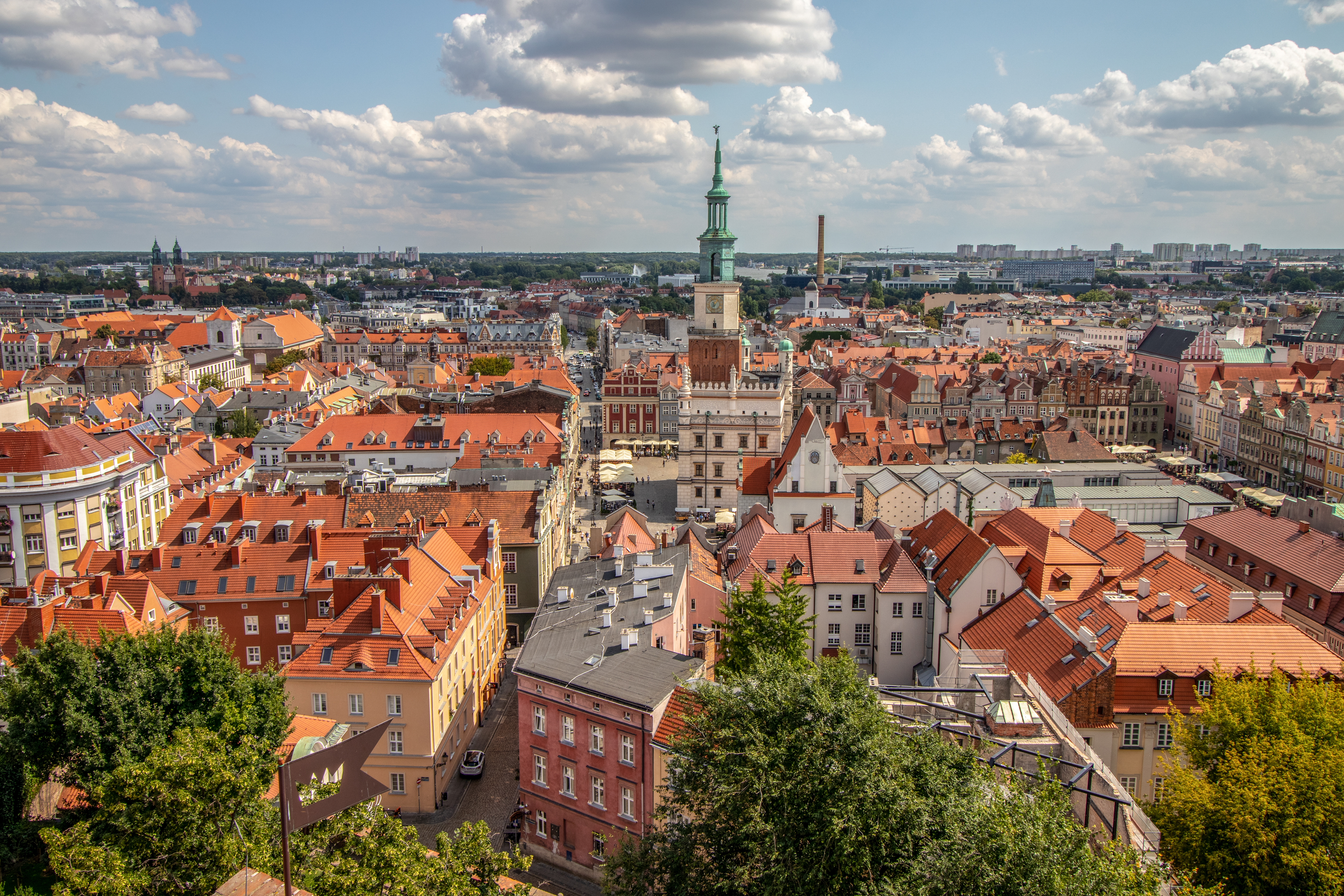 Польский город Познань, куда могут иммигрировать иностранцы