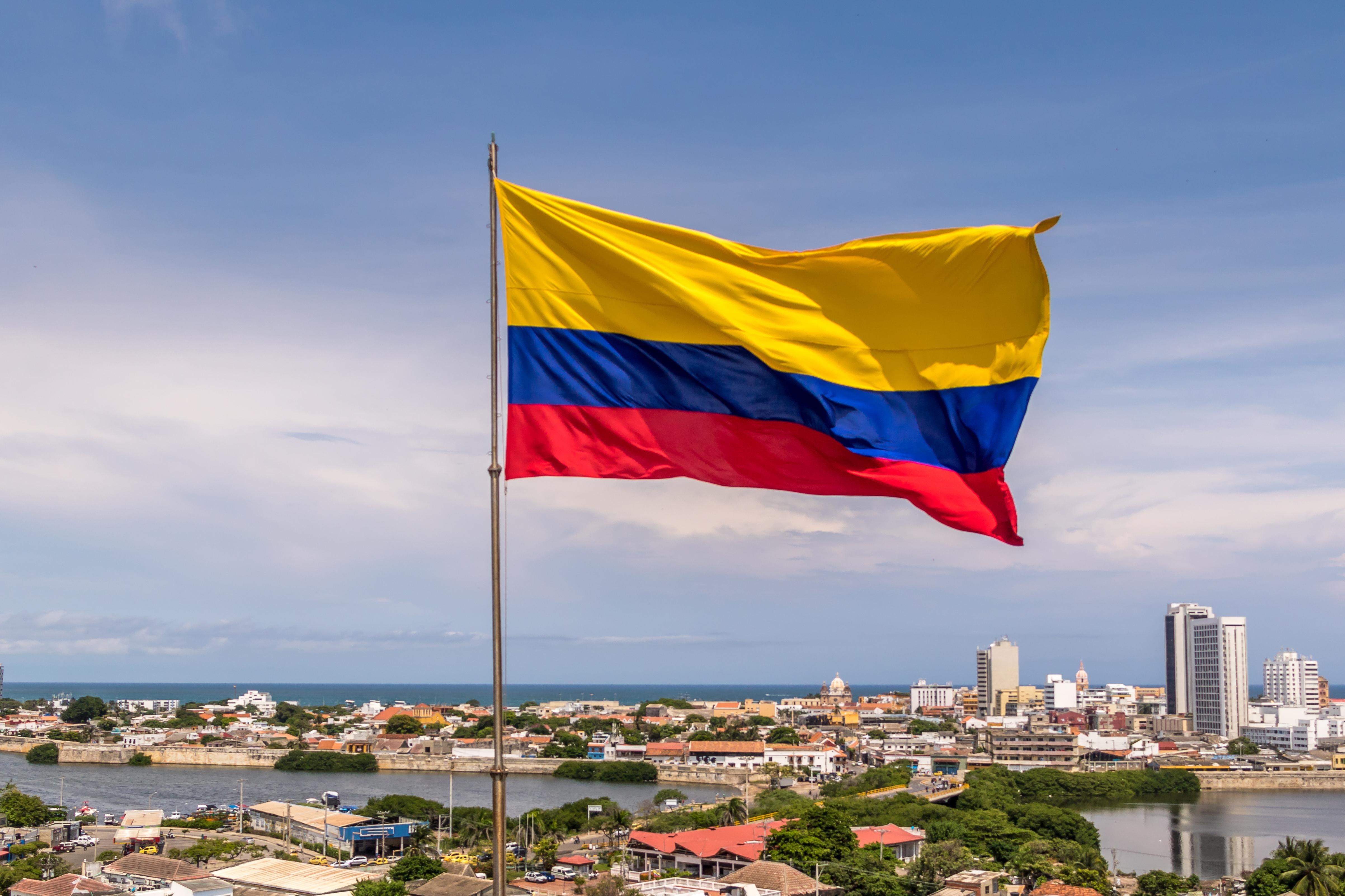 Флаг Колумбии, работа в которой доступна для иностранцев