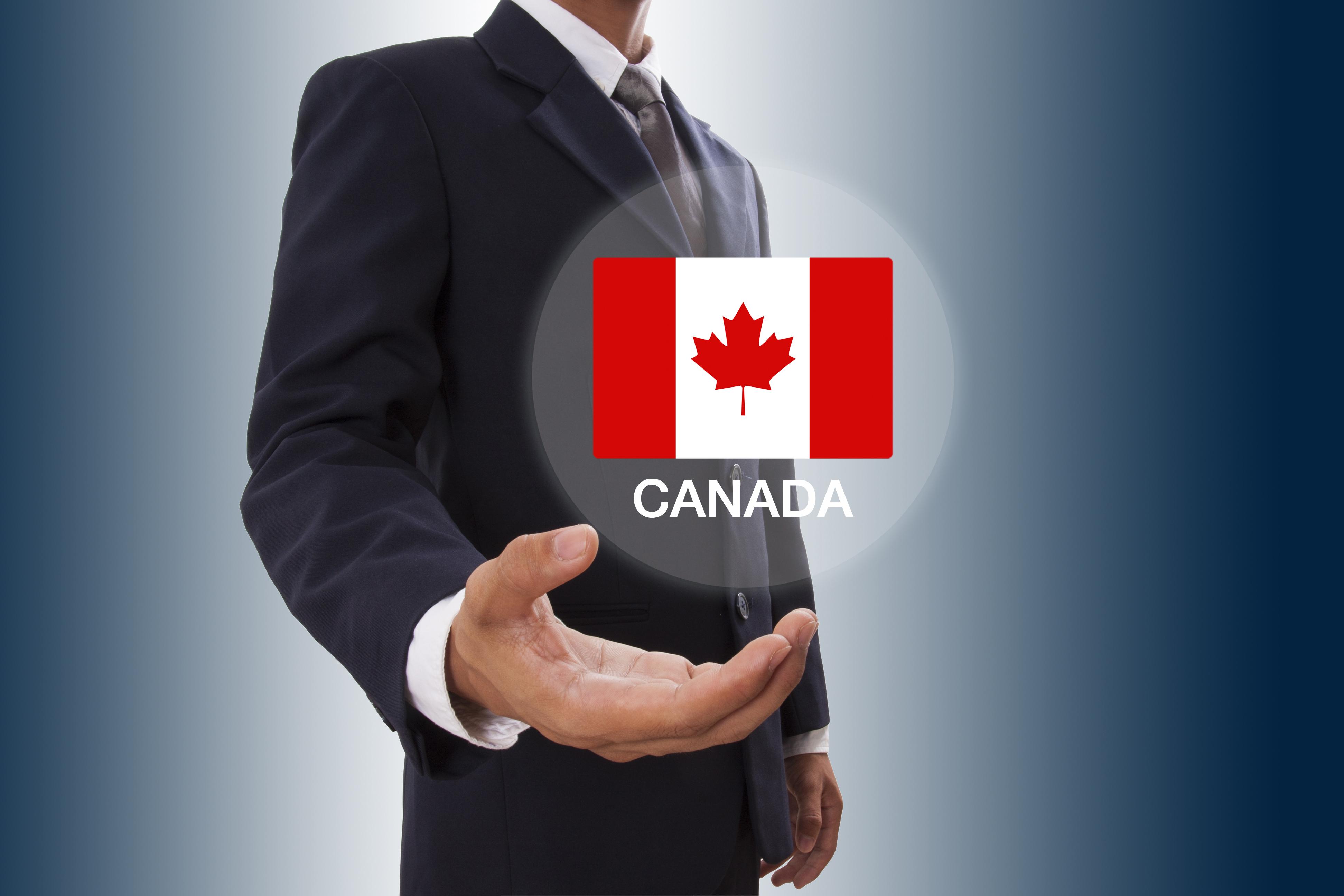 Мужчина с иконкой флага Канады, работа в которой доступна для русских