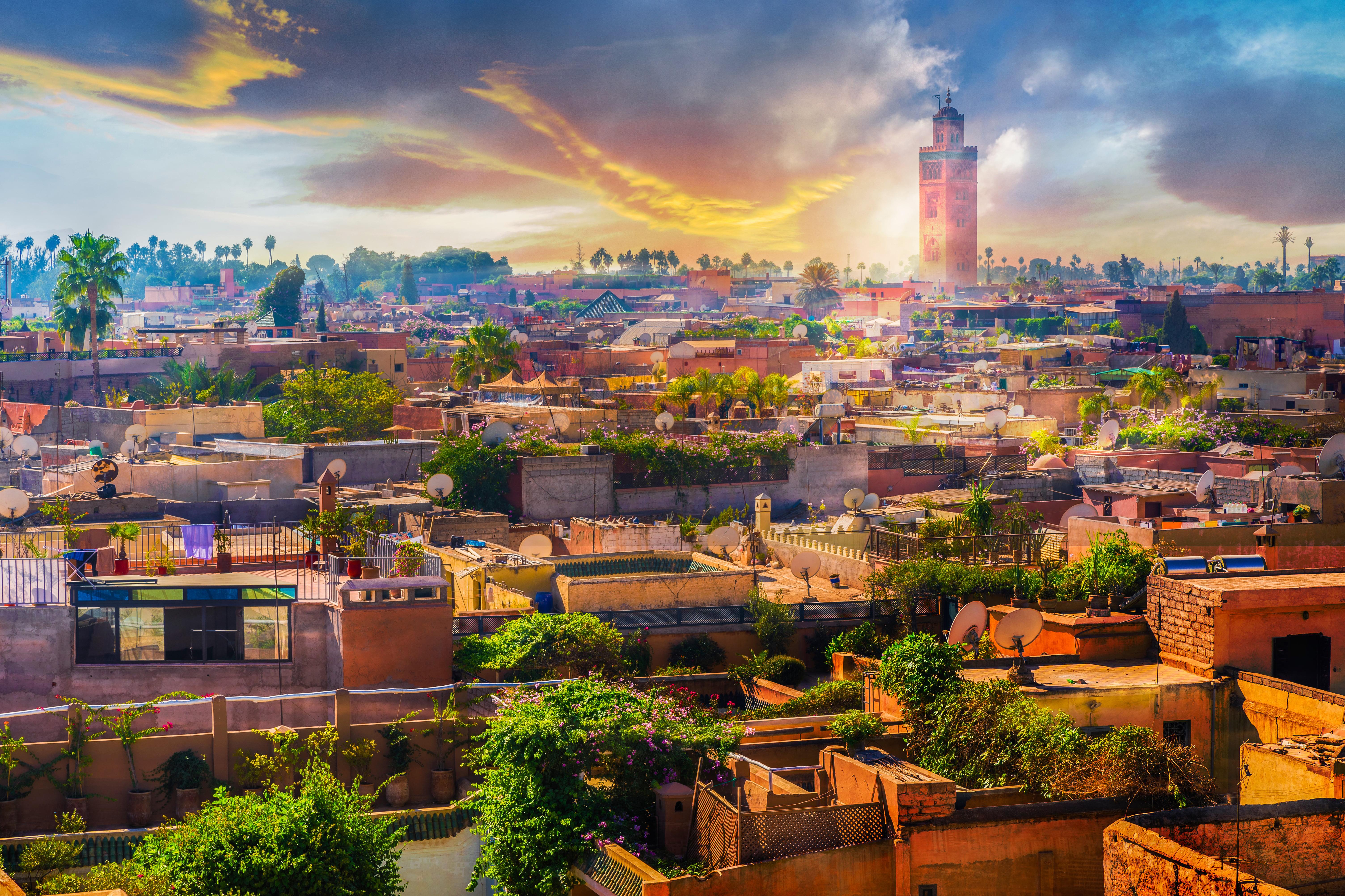 Город Марракеш, куда можно переехать по трудоустройству