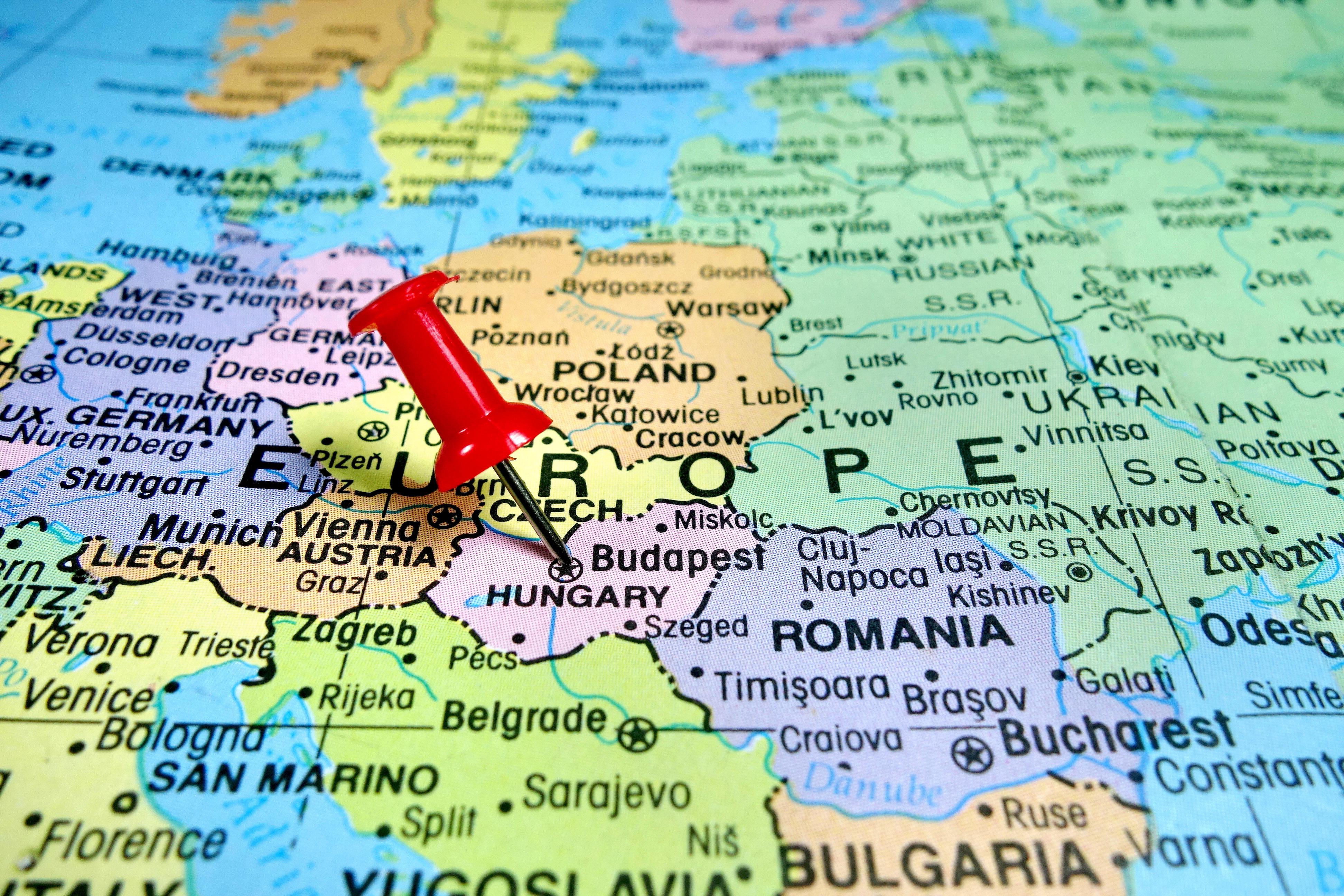 Карта Венгрии, страны, где действует репатриационная программа