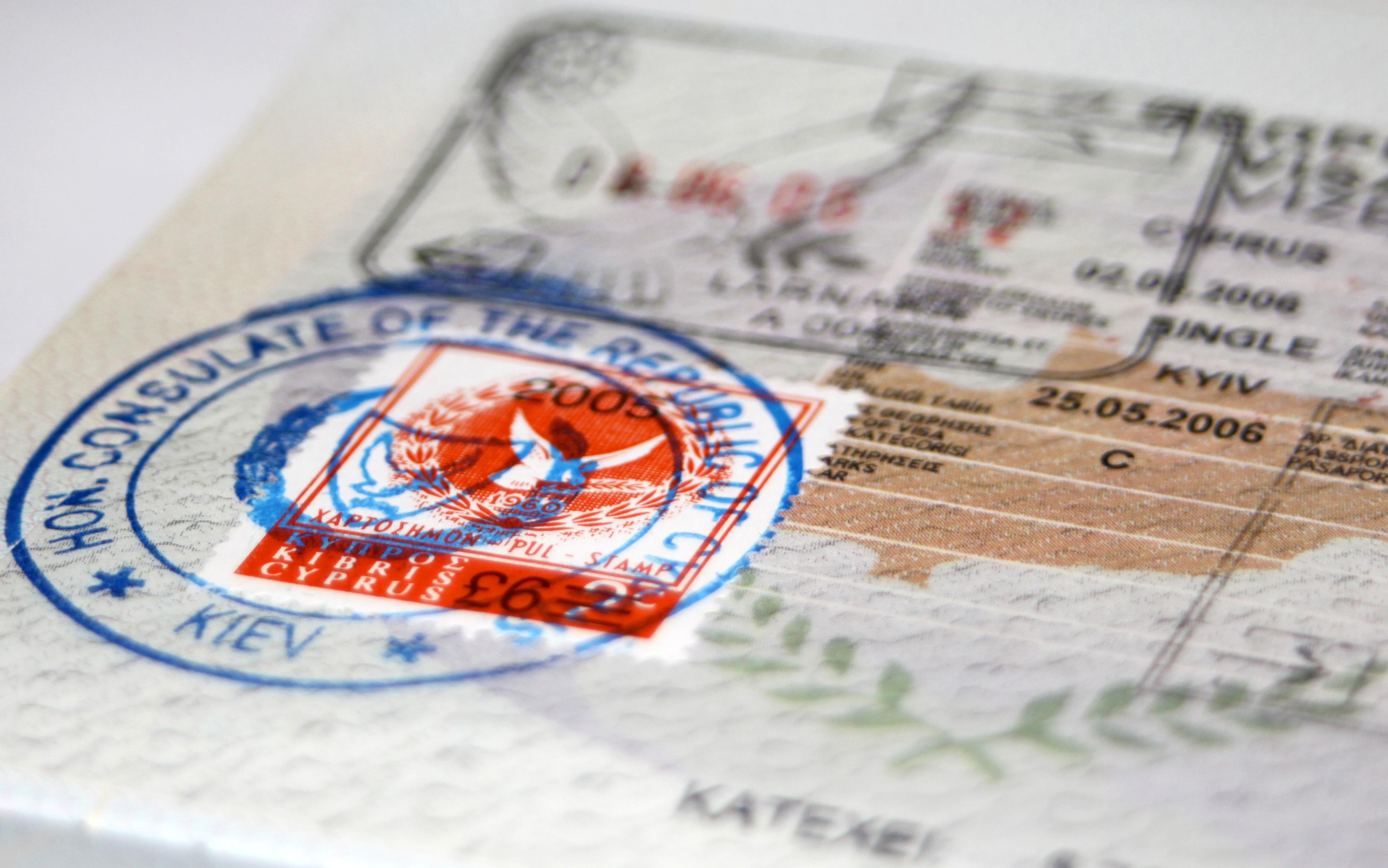 Паспорт Кипра с визой, которую могут оформить россияне