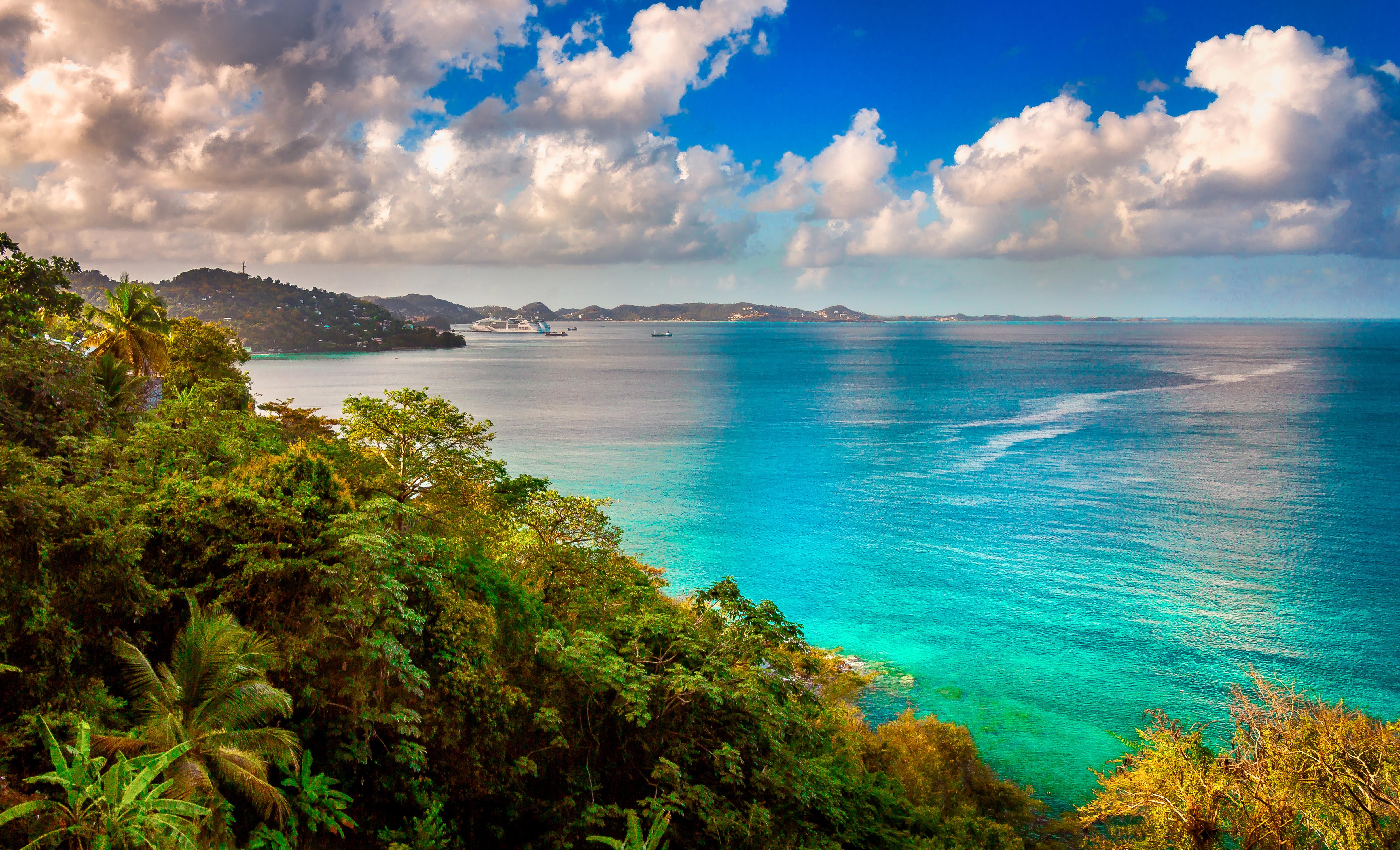 Побережье Гренады, где могут оформить визу россияне