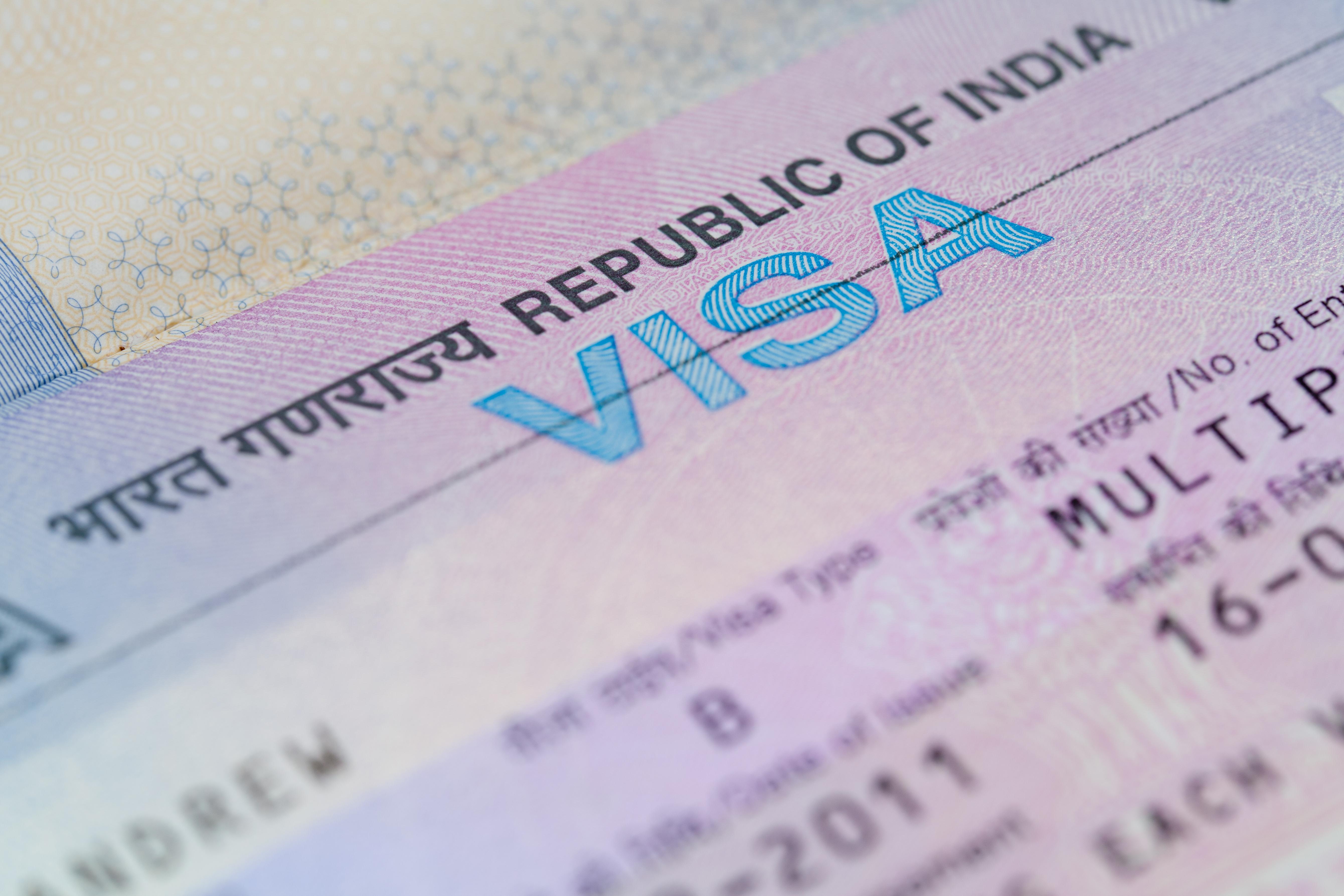 Виза в Индию, которую иностранцам надо оформлять для посещения страны