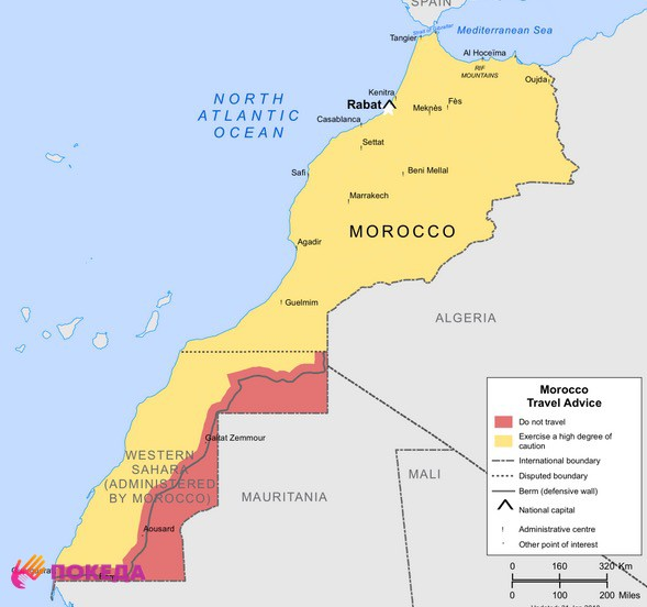 Марокко карта
