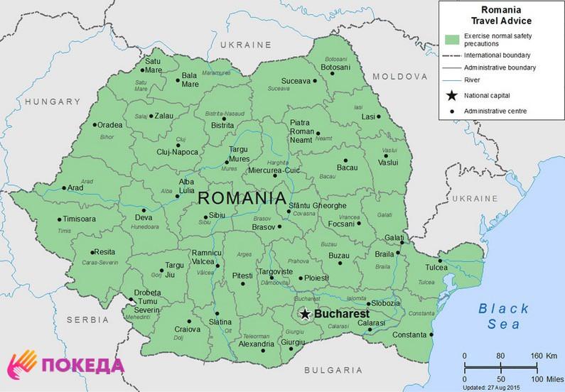 карта Румыния