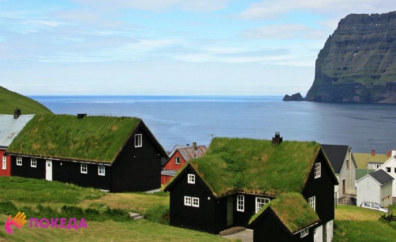 Пейзаж на фарерских островах