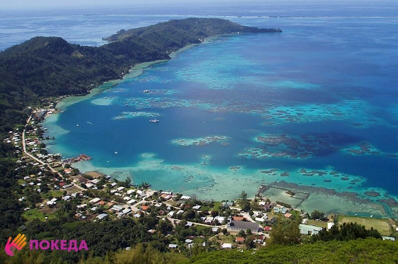 Вид острова Питкэрн